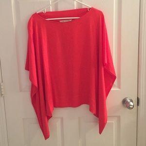 EUC Diane von Furstenberg orange blouse.